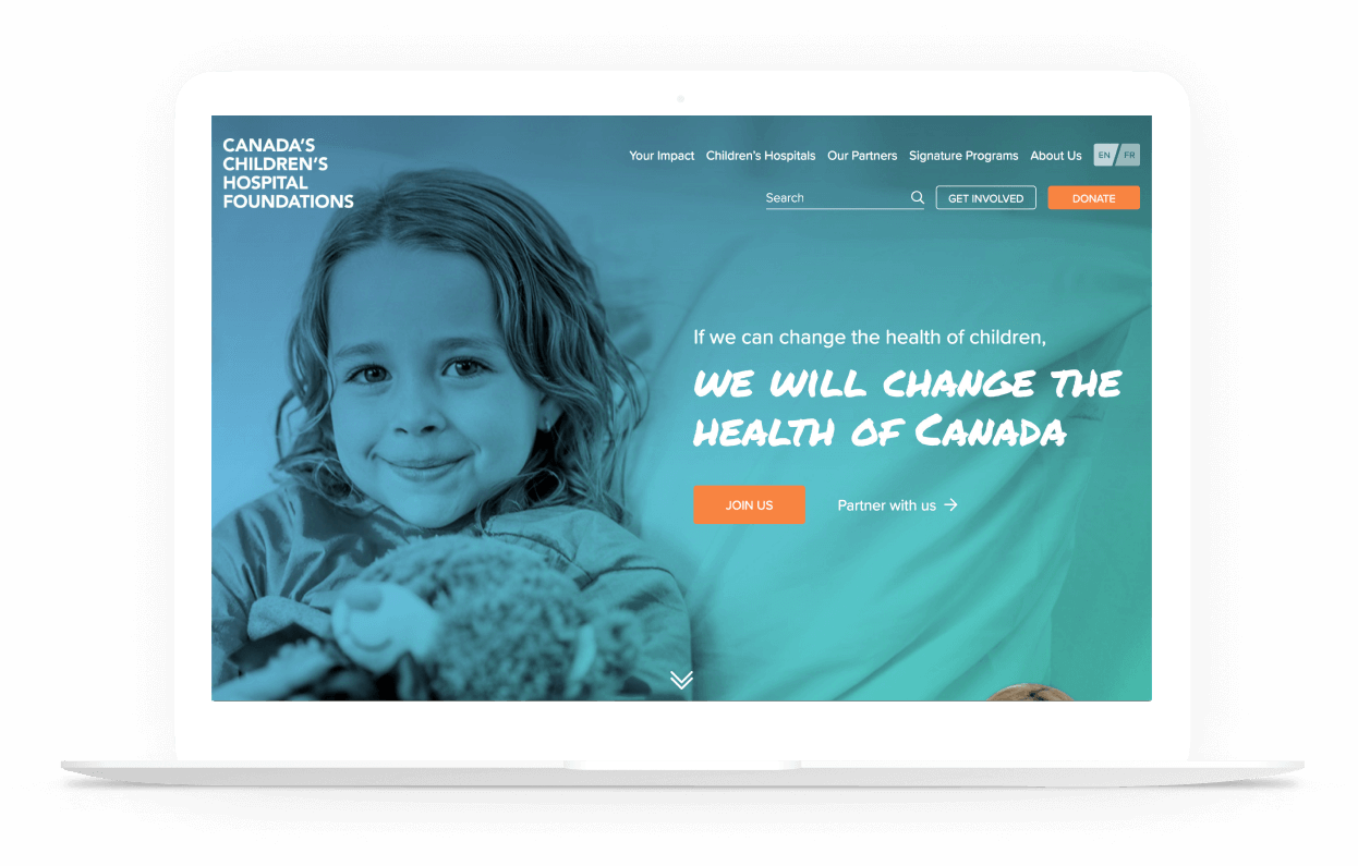 Canada's Children's Hospital Foundations website