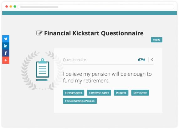 Screen shot of Financial Kickstart Questionnaire