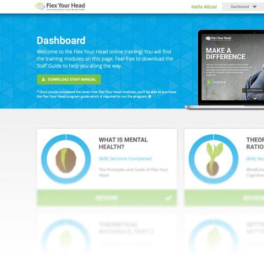 Dashboard screen shot