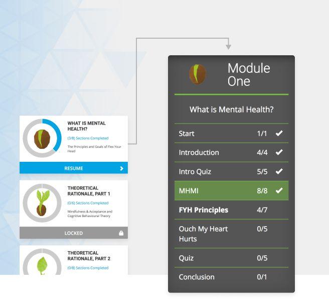 Screen shot of modules