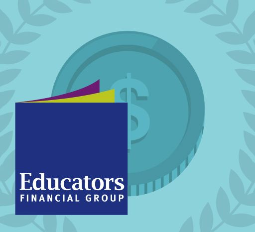 Educators Financial Group logo on blue background