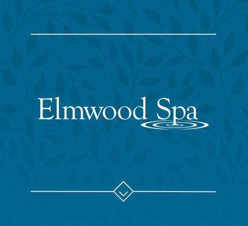 Elmwood Spa logo on blue background
